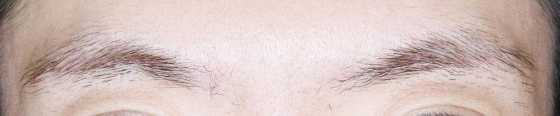 脱色後の眉毛の画像
