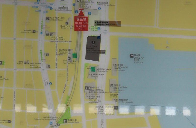 清水駅周辺地図